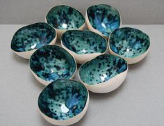 porcelain egg shell tea light bowls