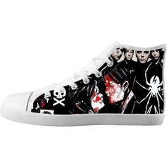 LeonBin My Chemical Romance Girl's Canvas Shoes High-top Unisex... ($36) ❤ liked on Polyvore featuring shoes