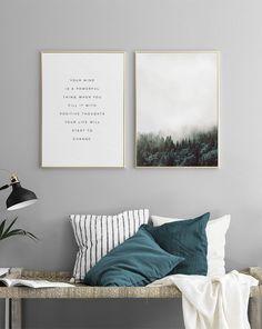 Elegantes cuadros y Pósters encima de la cama o el sofá | Bonitos cuadros en parejas