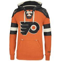 Reebok Philadelphia Flyers CCM Pullover Hoodie - Orange 911fd72d8