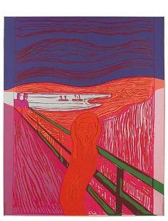 artnet Galleries: The Scream (After Munch) by Andy Warhol from Ronald Feldman Fine Arts