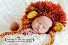 lion baby hat