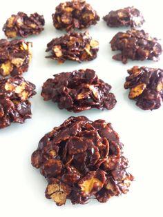 rocas-chocolate sin azúcar, para ninños y mayores :-)