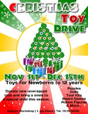 Toy Drive Poster Template Ideal For Any Charity Or Fundraiser