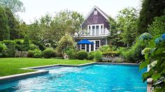 Beautiful shingle style house and landscaping - Elizabeth Cutler's home in East Hampton