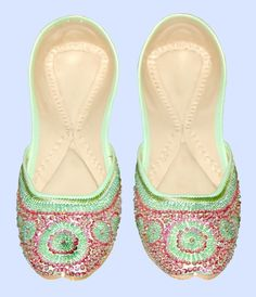 I am in love with beaded khussa flats.