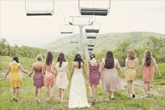 Hills in Heels. If we were having a Steamboat wedding. Ski Wedding, Wedding Bells, Dream Wedding, Perfect Wedding, Vintage Bridesmaid Dresses, Wedding Bridesmaids, Wedding Inspiration, Wedding Ideas, Wedding Stuff