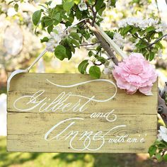 "Gilbert and Anne with an E forever. <3 | This ""Anne Of Green Gables"" Themed Wedding Is The Sweetest Thing Ever"