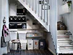 Storage Under Stairs Ikea sweet storage solutions Source: website spring storage solutions declutter home Source: website small space. Pantry Door Storage, Ikea Storage, Stair Storage, Storage Spaces, Storage Ideas, Organisation Ideas, Laundry Storage, Creative Storage, Laundry Room