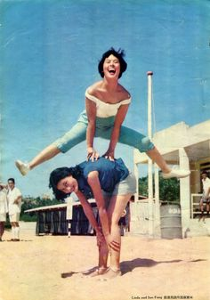 Lin Dai and Soo Fung, Hong Kong, october 1956.