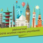 Jabiroo, 2016 Yılı Seyahat Raporunu Yayınladı