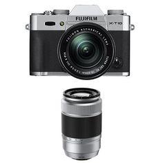 Fujifilm X-T10 Silver w/ XC16-50mm & XC50-230mm F4.5-6.7 Silver Lens Kit