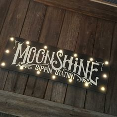 Light up your Moonshine love!  This sign has LED lights :)