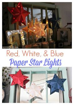 How To Make Paper Star Lights made with your Silhouette - Lil Mrs. Tori