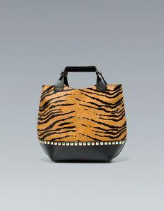 MINI TIGER TOTE BAG - Large handbags - Handbags - Woman - ZARA United States