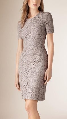 Burberry French Lace Shift Dress --> Click to buy