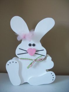 wooden easter bunnies | Wooden Easter Bunny by preciousmomentsdecor on Etsy, $20.00