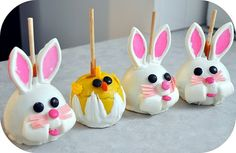 easter Decorated Caramel Apples | Easter Apples