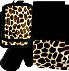 Anythinganimals Com Animals Bordering Africa Animal Print Kitchen Towel Set