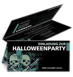 Schaurig schöne Einladungskarten für Halloween. #halloweeneinladung #halloweenpartyeinladung #halloween