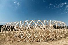 """""""Hello Wood"""" a camp in Budapest focused on the beauty of working with wood. Sign us up! (via Inhabitat) http://inhabitat.com/budapests-hello-wood-camp-showcases-the-beauty-of-building-with-wood/"""