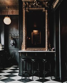 Black Paint Inspiration – Dark Wall Home Painting Ideas - New Deko Sites Home Design, Home Interior Design, Interior And Exterior, Interior Decorating, Decorating Tips, Design Ideas, Ad Design, Decorating Websites, Cafe Interior
