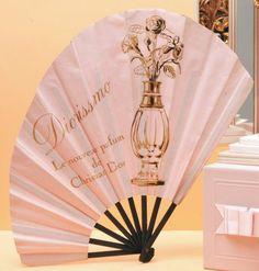 Christian Dior « Diorissimo » - (1956) Rarissime éventail publicitaire parfumé en papier rose, monture en bois, de forme asymétrique, titré et illustré du flacon d'origine de ce mythique parfum sur une face. Antique Fans, Vintage Fans, Vintage Love, Dior Perfume, Perfume Oils, Perfume Bottles, Dior Diorissimo, Christian Dior, Dior Forever