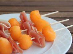 Entrée n°30 : Brochettes de melon et de jambon cru • Hellocoton.fr