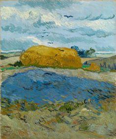 Vincent van Gogh, Covone sotto un cielo nuvoloso, 1890