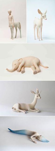 yoshimasa tsuchiya | 日本雕塑家Yoshimasa Tsuchiya(土屋仁応)木雕作品选