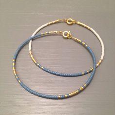 Minimal bracelet Blue gold Bangle Bracelet Simple par…