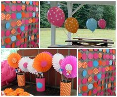 First birthday party ideas: polkadot birthday party