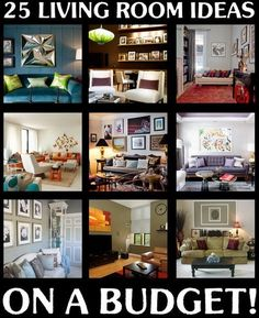 Homes And Styles: 25 Beautiful Living Room Ideas On A Budget!