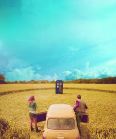 Amy and Rory in the crop circle