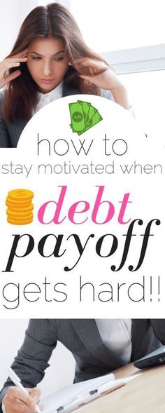 How to Stay Motivated When Your Debt Payoff Gets Hard Sticking to a debt payoff plan gets hard! It can be tough to stay motivated when it comes to the debt snowball or other debt payoff. Here is how to survive. Miles Credit Card, Paying Off Credit Cards, Debt Snowball Calculator, Get Out Of Debt, Debt Payoff, Pay Debt, Debt Free, How To Stay Motivated, Making Ideas