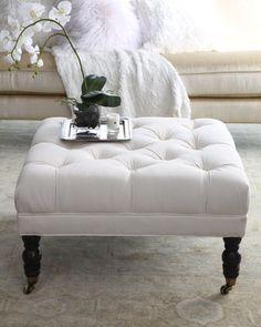 Ellsworth Collection Tufted Ottomans - Horchow