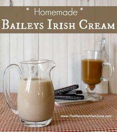 make your own homemade Baileys Irish Cream