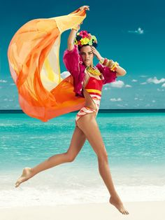 Barbara Fialho Models Beach Style for Harpers Bazaar Mexico by Danny Cardozo