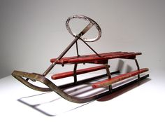 Old sled. The Old Days, Old Pictures, Vintage Ads, Old Houses, Finland, Childhood Memories, The Past, Old Things, Sled