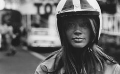 Gorgeous Photos Of Françoise Hardy On The Set Of 1966 Formula 1 Movie 'Grand Prix'. Fast cars and a gorgeous girl.