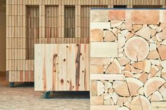 Image 5 of 20 from gallery of Edge of the Forest / Yamazaki Kentaro Design Workshop. Photograph by Akihiro Kawauchi Lumber Mill, Construction Materials, Wood Texture, Contemporary Architecture, Wood Design, Built Ins, Wood Projects, Workshop, Design Inspiration