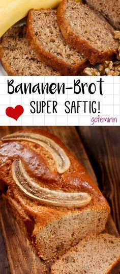Bananen-Brot - so saftig und fluffig! Das beste Rezept!