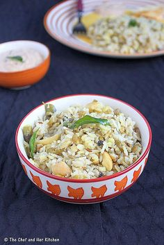Rice and Moong Bean Lentil Bowl | pulagam1 by prathy27, via Flickr