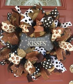 Beware of Dog Kisses Mesh Wreath