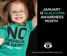 January is Glaucoma Awareness Month! Check out these awesome awareness shirts from Eye Power Kids Wear.