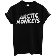 Arctic Monkeys T-shirt Rock Band New Top T-shirt (180 MXN) ❤ liked on Polyvore featuring tops, t-shirts, shirts, rock shirts, tee-shirt, monkey t shirt, monkey shirt and rock tops