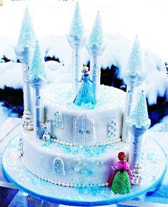 photos of frozen birthday party | frozen birthday cake