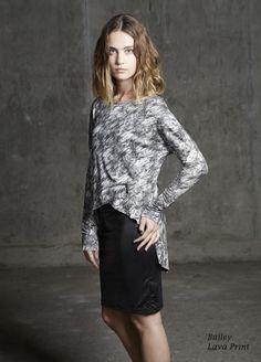 Bailey Lava Print/Asymmetric Print Shirt/Spring 2013