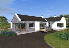 Traditional Style Bungalow with Contemporary Features – Modern Bungalow House Plans, Modern Bungalow Exterior, Bungalow Haus Design, Barn House Plans, Modern Farmhouse Exterior, Cottage House Plans, Dormer Bungalow, Bungalow Designs, Cafe Exterior