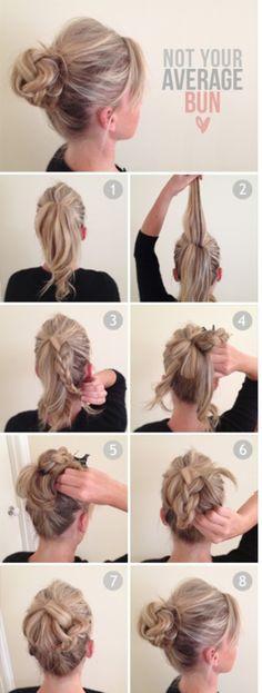 Not your average Bun - #knotbun #bun #hairstyle #hairtutorial #updo #hairbun #buntutorial - bellashoot.com